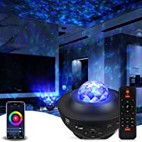 Galaxy Projector Star Projector Work with Alexa Google Home Galaxy Cove Projector with Bluetooth Music Speaker, Night…