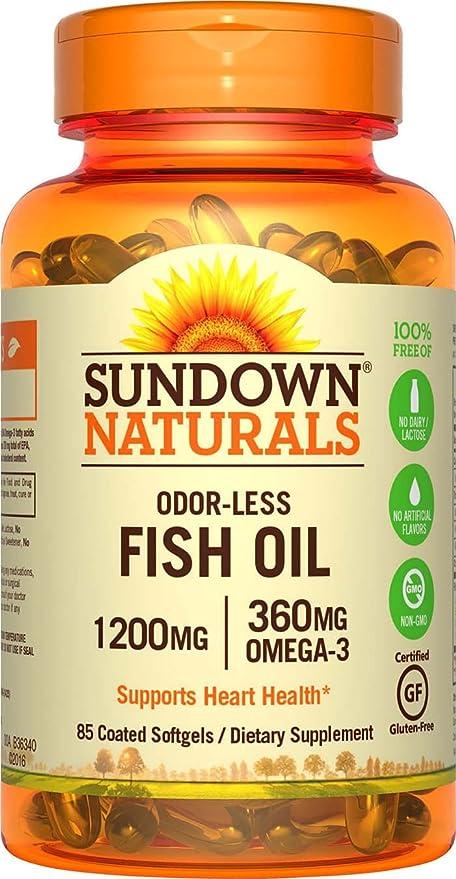 El aceite de pescado, sin olor Omega-3, 1200 mg - Rexall Sundown