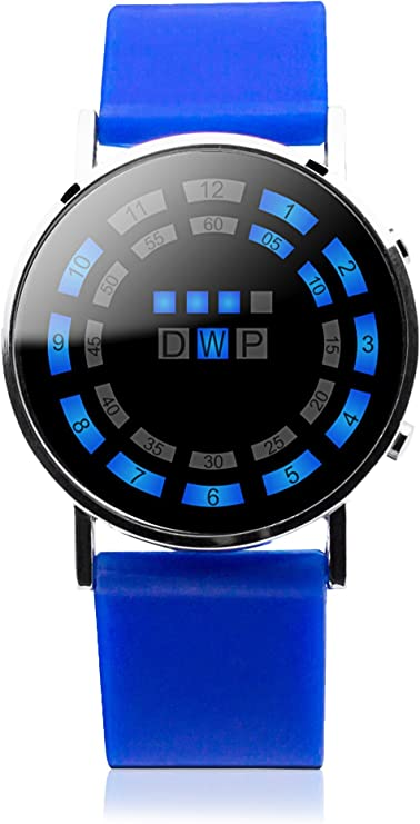 Fun and Play MO.01.0001.03-Reloj LED Unisex, Color Azul