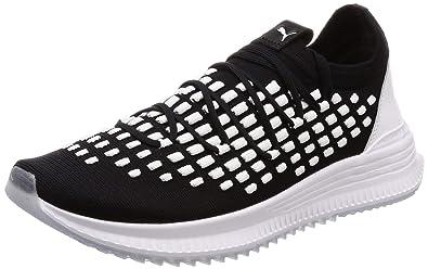 e26c650294c PUMA Mens Black White Avid Fusefit Sneakers-UK 6