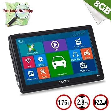 XGODY 715 portátil coche camión GPS 7 Inch 8 GB ROM sistema de navegación capacitiva pantalla