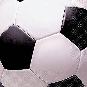 Creative Converting Sports Fanatic Soccer Beverage Napkins 18 Per Pack