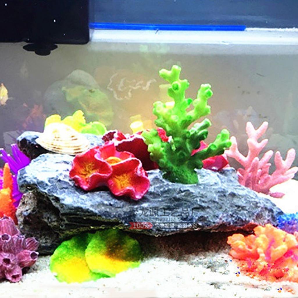 Morbido artificiale coral Starfish pianta Underwater ornamento per acquario/ /Hearbeauty