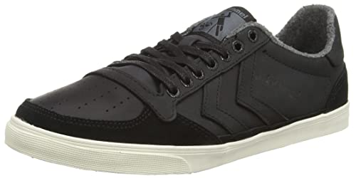 Unisex Adults Slimmer Stadil Duo Oiled Low Trainers, Coal/Grey Hummel
