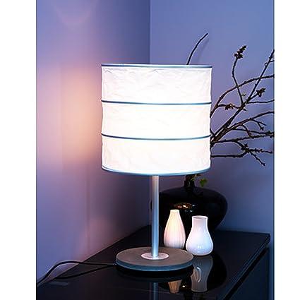 IKEA RUTBO - Lámpara de mesa, en forma de cilindro, blanco ...