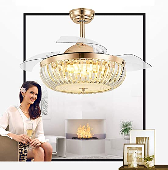 42inch Modern Crystal Chandelier Ceiling Fan