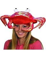 Metallic Red Crab Hat
