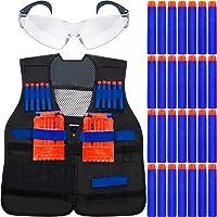 Kit Colete Infantil + Óculos Proteção + 30 Dardos P/ Armas de Brinquedo