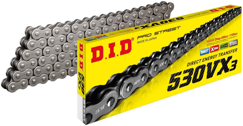 D.I.D 530VX3X116ZB Black Steel 525VX3 X-Ring Chain 116 Links
