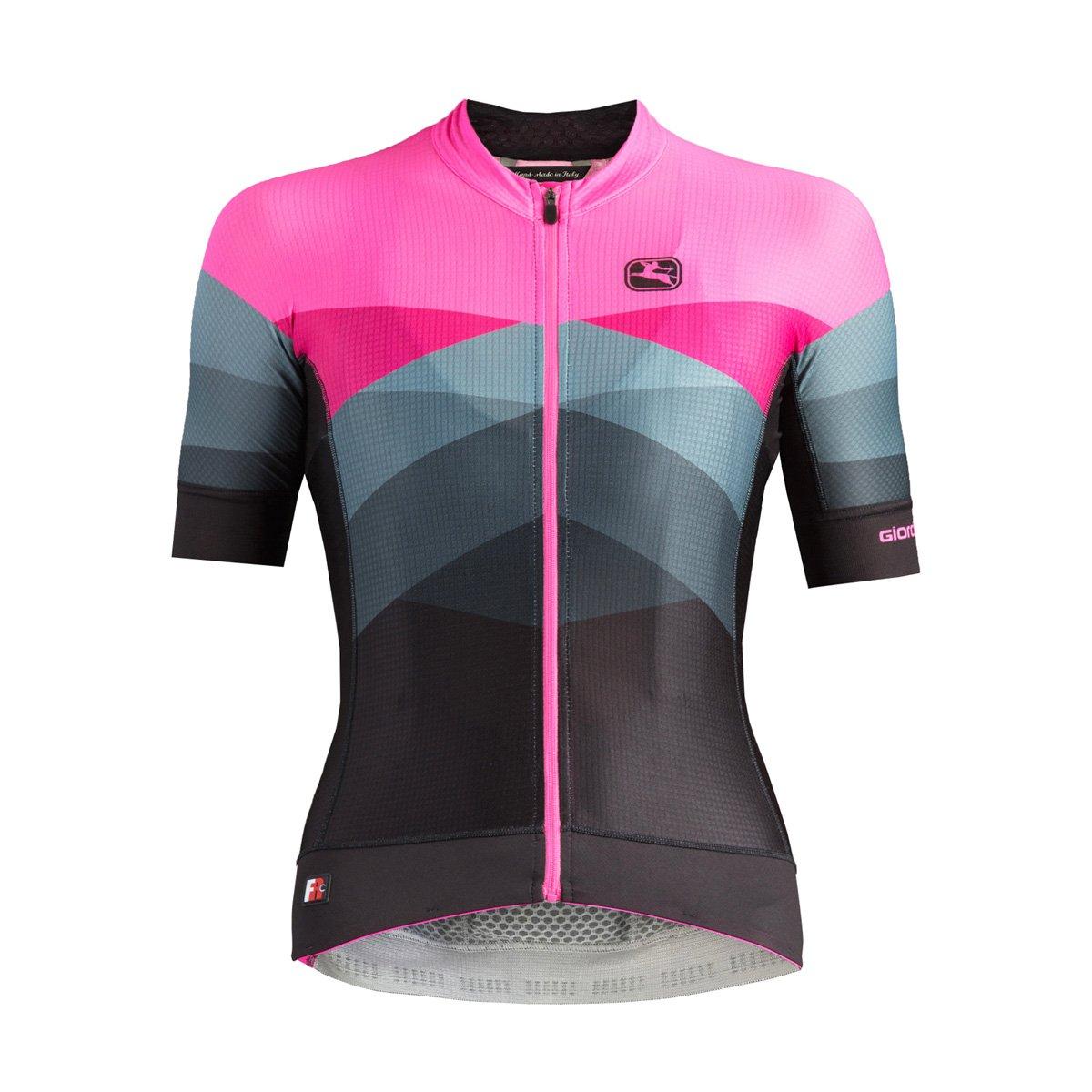 Giordana 2018 Women's Dolomiti FR-C Pro Moda Short Sleeve Cycling Jersey - GICS18-WSSJ-FRCP-DO (DOLOMITI-Pink/Black - 2XS)
