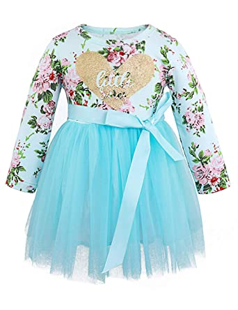 34233823bf68 Amazon.com  Toddler Girl Easter Outfits Little Sister Dress Long ...