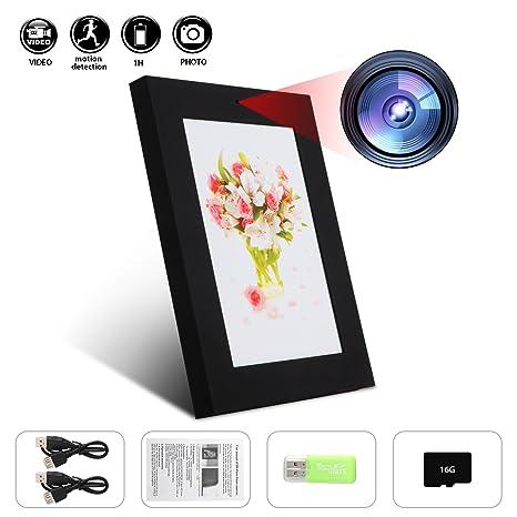 Telecamera nascosta Gsmade cornice portafoto Spy camera Frame 16 GB ...