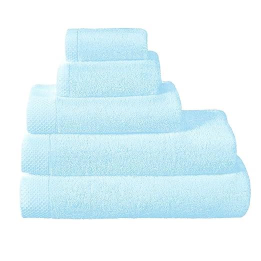 * La Mousseuse Towels * Luxury Egyptian Cotton Hand Towel, Porcelaine (Soft Blue) 50x100cm: Amazon.es: Hogar