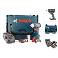 Bosch GDS 18 V-EC 250 Professional brushless Akku Drehschlagschrauber + 2 x GBA 18 V 5 Ah Akku + GAL 1880 CV Schnellladegerät in L-Boxx