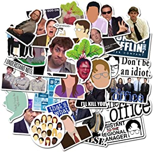 50Pcs/lot The Office TV Show Stickers Laptop Stickers Computer Vinyl Sticker for Snowboard Skateboard Car Bicycle Dirt-Bike Luggage Motorcycle (The Office Stickers)