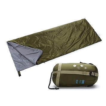 Yahill - Saco de dormir ligero impermeable para deporte aventurero, senderismo, Olive Green: Amazon.es: Deportes y aire libre