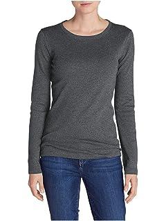 7de7663c5 Amazon.com: Eddie Bauer Women's Favorite Long-Sleeve V-Neck T-Shirt ...