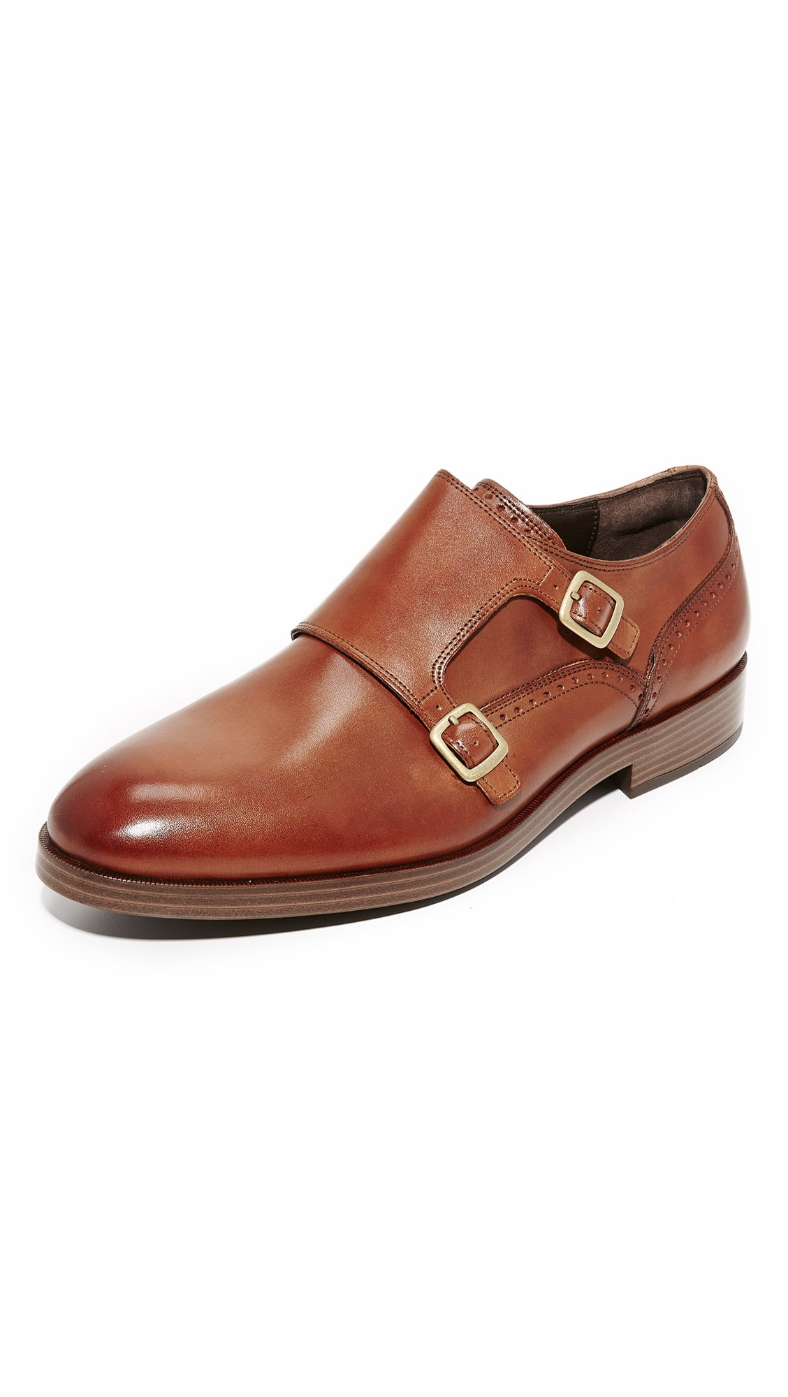 fashionable and attractive package presenting discount collection Cole Haan Men's Harrison Grand Double Monk Straps, British Tan/Dark  Natural, 10.5 M US