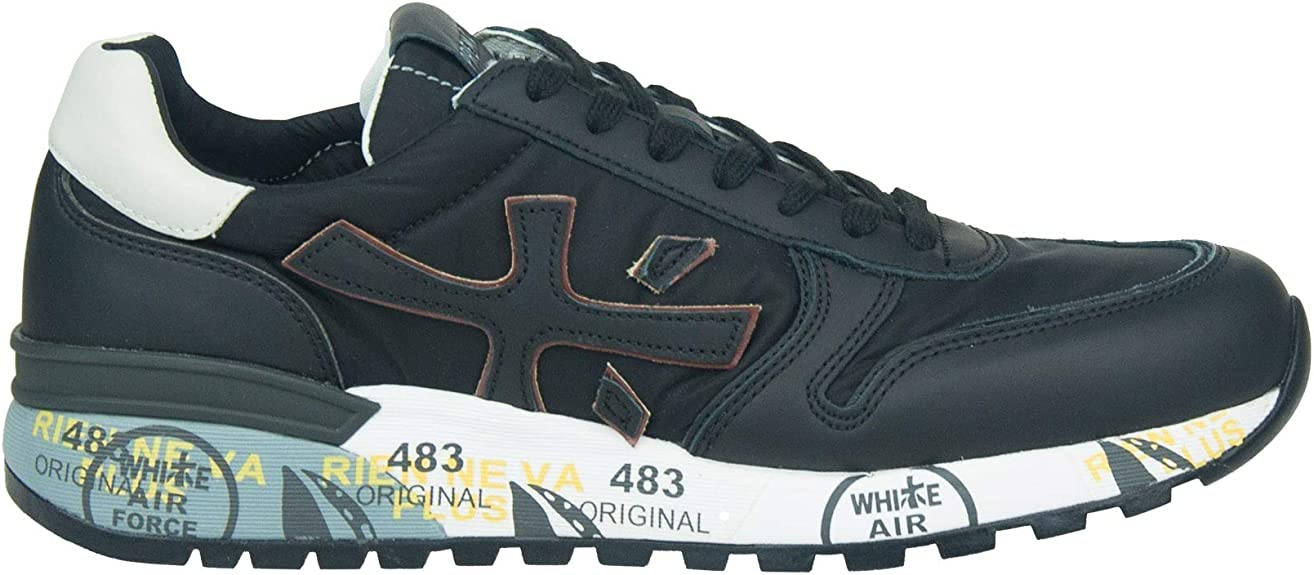 PREMIATA - Zapatillas de Cuero para Hombre Negro Negro Negro Size: 43 EU: Amazon.es: Zapatos y complementos