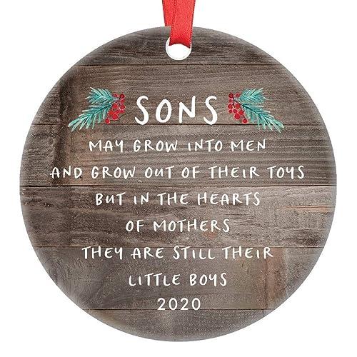 2020 Christmas Ornaments For Son Amazon.com: Gift for Son Christmas Ornament 2020 Sons In The