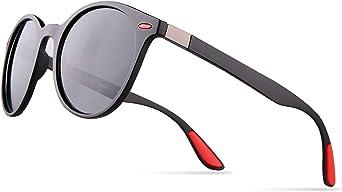 Runde Vintage Sonnenbrille im angesagten Unisex Rund f/ür Herren /& Damen Retro Brille
