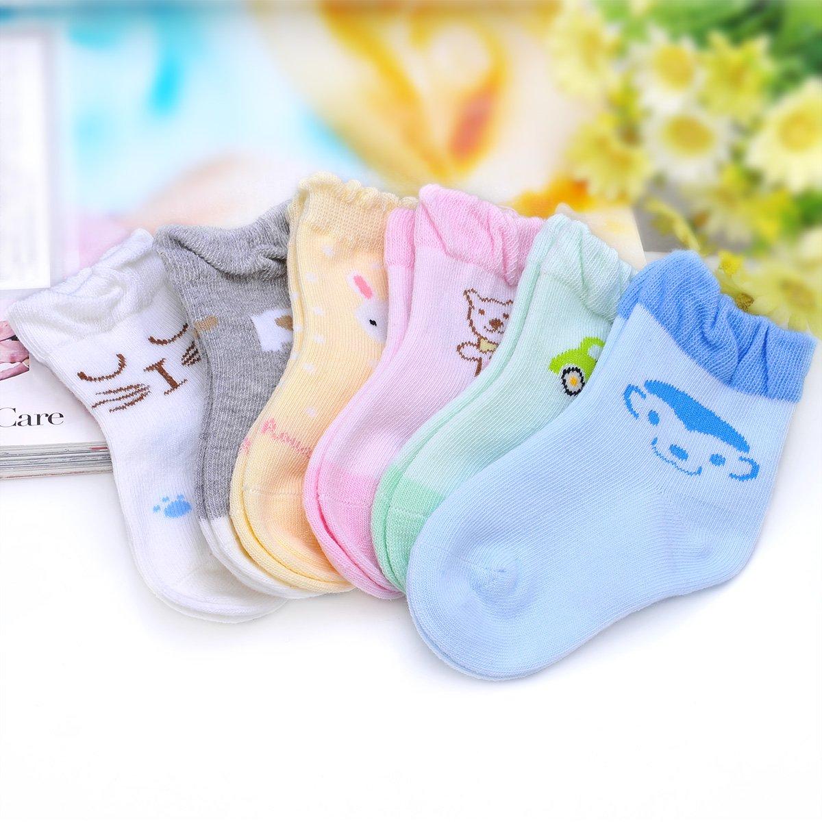 Ezclassy- Girls\' 12 Pack Crew Socks (0-1 Years)