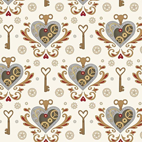valentines fabric steampunk valentine smaller scale by hazel_fisher_creations valentines fabric with spoonflower