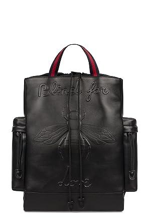 24f4f9821f8 Gucci Men s 450979DSVNX8545 Black Leather Backpack  Amazon.co.uk ...