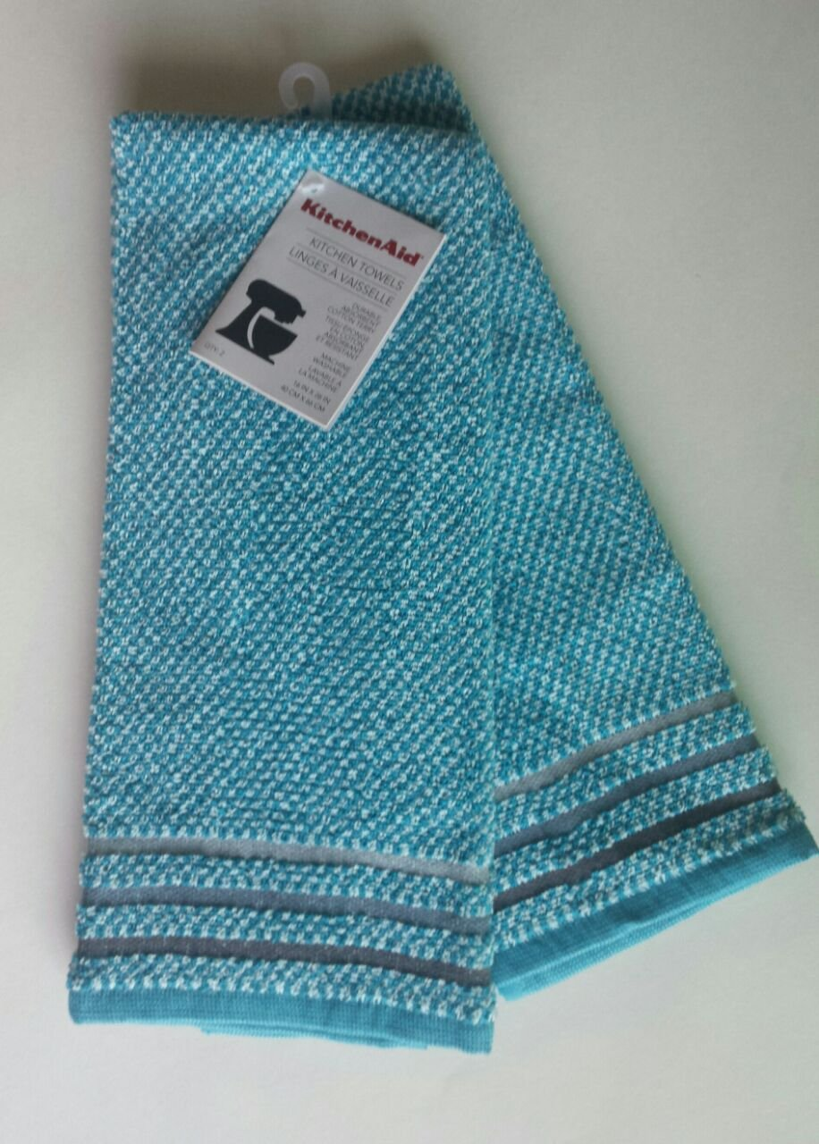 KitchenAid Kitchen Towel Set of 2 - Aqua Sky