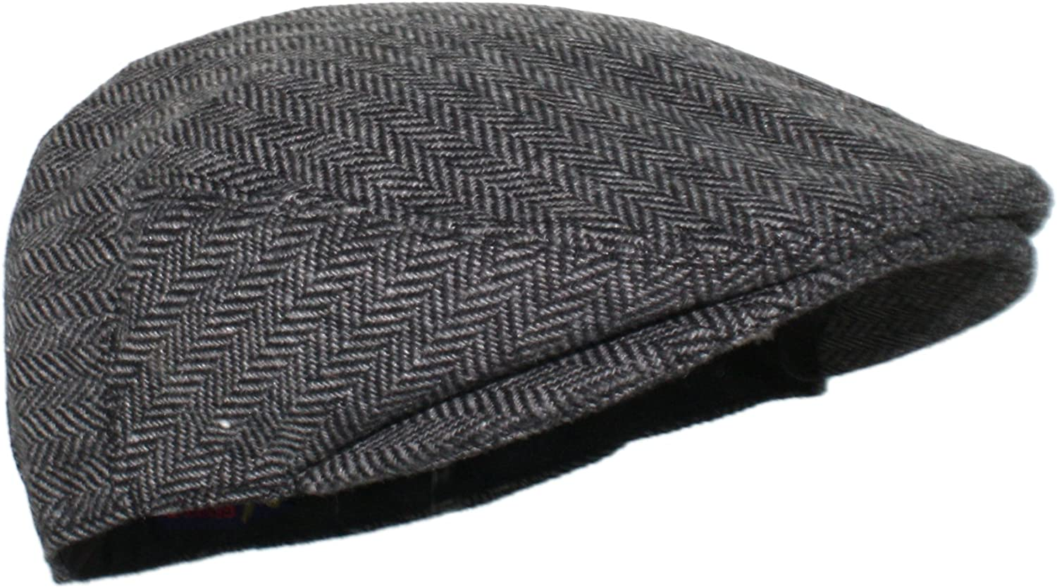 Ted & Jack - Street Easy Herringbone Driving Cap with Quilted Lining