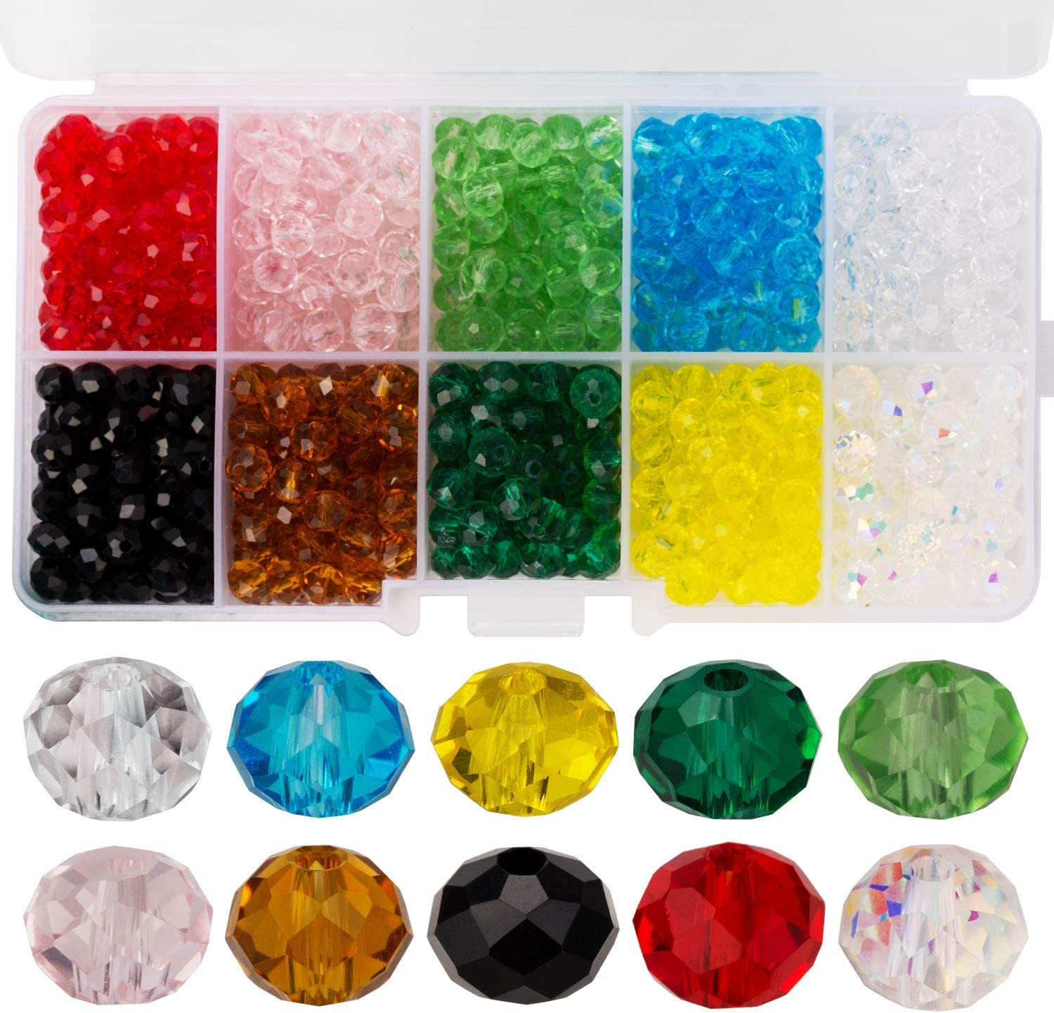 Jewelry Faceted 148pcs 3*4mm Red AB  Roundelle Crystal Beads DIY!
