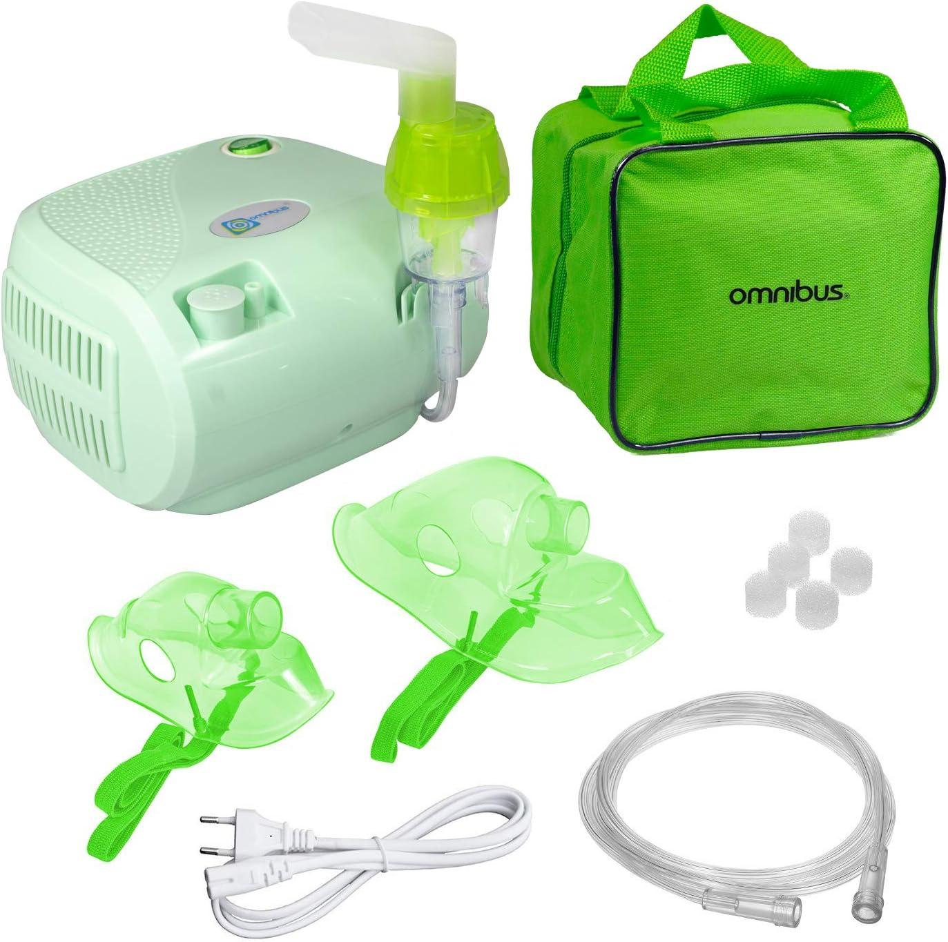 Omnibus BR-CN116B - Nuevo inhalador compresor Inhalador compacto para inhaladores bebe electrico (Limón)