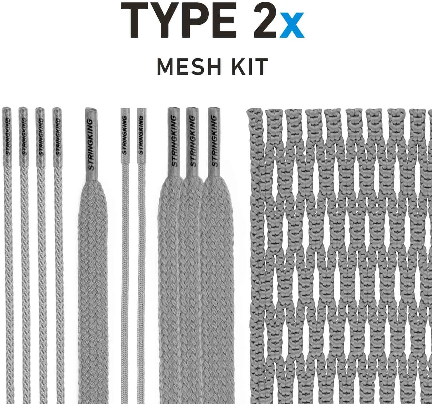 NEW White StringKing Type 2X Semi Hard Mesh Complete String Kit