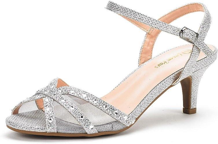 DREAM PAIRS Women's Nina Ankle Strap