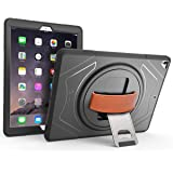 iPad Pro Case, New Trent Gladius Pro iPad Case for 1st & 2nd Gen iPad Pro 12.9 inch tablet with 360 Degree Rotatable [Rugged: Shock Proof], Built-in Stand, Screen Protector and Leather Hand Strap