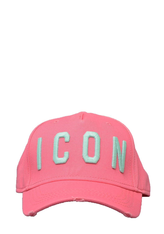 8c93fda15 DSQUARED2- BCM4001/05C00001 Icon Baseball Cap in Pink: Amazon.co.uk ...