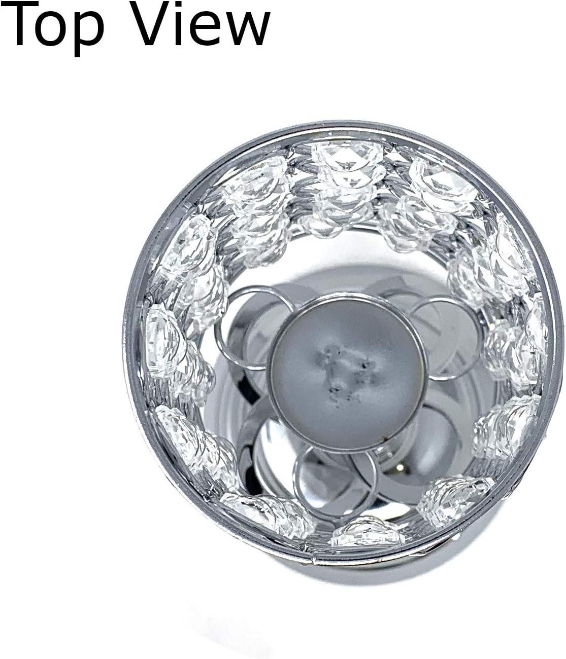 allgala 14 Crystal Gold Cylinder Tealight Votive Decorative Candle Holder