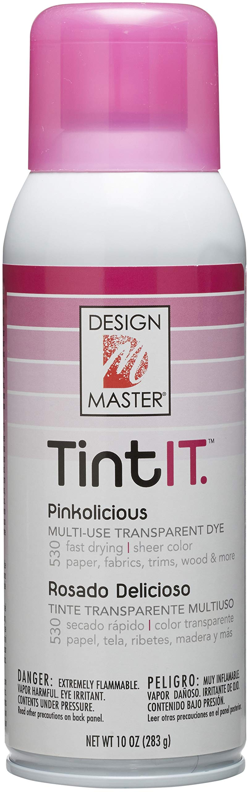 Design Master Tint IT Transparent Dye Spray Paint, 10-Ounce, Pinkolicious