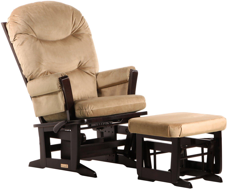 Amazon.com: Dutailier Modern Glider Multi Position Recline And Nursing  Ottoman Combo, Espresso/Light Brown: Baby