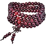 Yosoo® Sandalwood Buddhist Buddha Meditation 6mm*108 Prayer Bead Mala Bracelet/Necklace