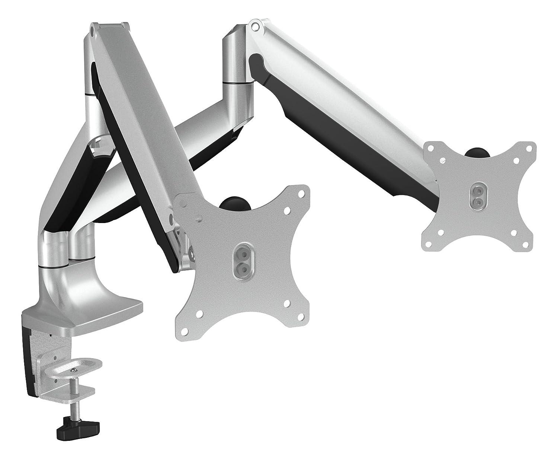 Icy Box IB-MS504-T Monitor-Tischhalterung für zwei Displays bis zu zu zu 32 Zoll (81cm) Vesa, Kabelführung, Dreh- neigbar, Ergonomisch 4ce3ae