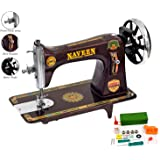 Naveen Sewing Machine Domestic Square Model Head (Metallic Red Color)-3