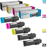 LD Compatible Toner Cartridge Replacement for Xerox Phaser 6510 & WorkCentre 6515 High Yield (2 Black, 1 Cyan, 1 Magenta, 1 Y