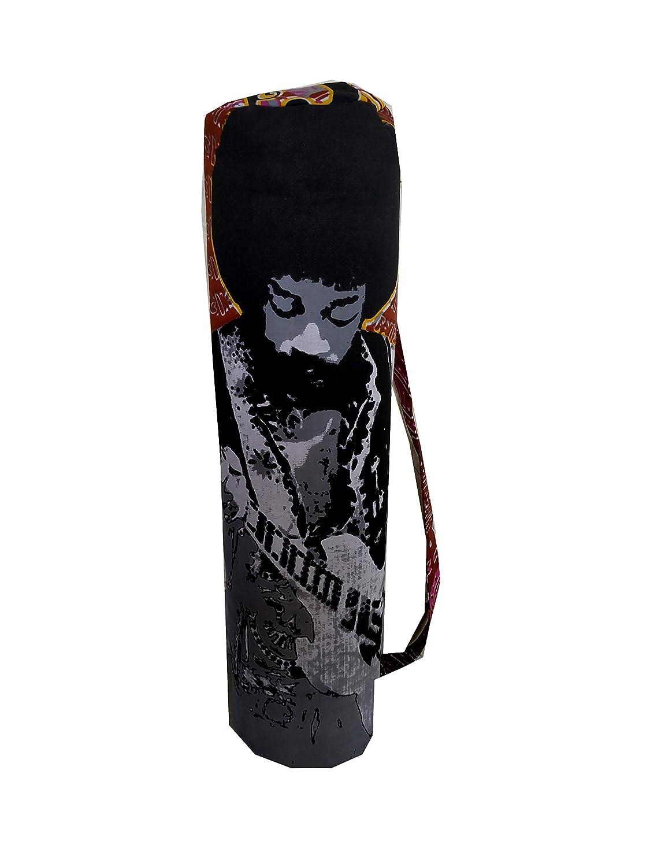 ICC Brown Hendrix Full-Zip Exercise Yoga Mat Carry Bag Gym Beach Pilates Carrier Bags Hippie Mandala Indian Cotton Bag 1 Indian Craft Castle ICC08