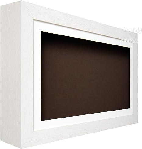 Caja de sombra profunda BabyRice de marco de madera - blanco - para 3D objetos, arte, adornos, de la mano de unos de pie: Amazon.es: Hogar