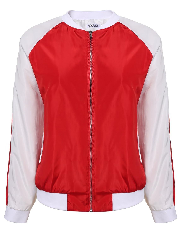 Meaneor Women Plus Size Classic Short Bomber Jacket Coat MAH005933