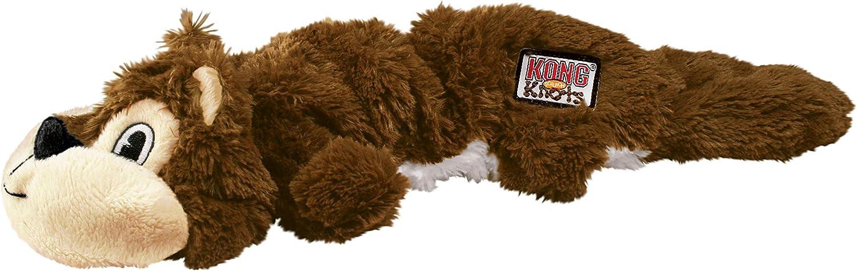 KONG - Scrunch Knots Squirrel - Juguete con Cuerdas internas antirrotura - para Perros de Raza Mediana/Grande