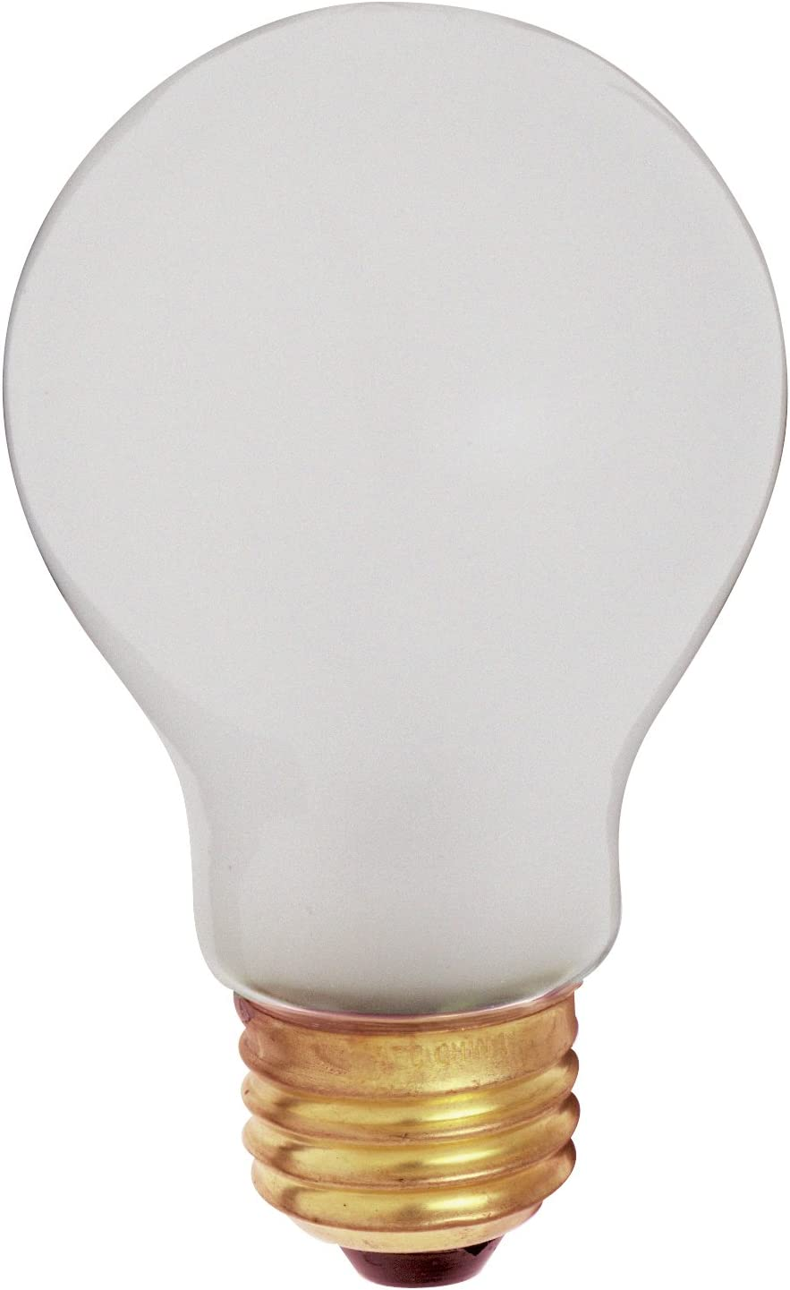 Satco S3929 100 Watt 960 Lumens A19 Incandescent Rough Service Shatterproof Light Bulb, 2-Pack