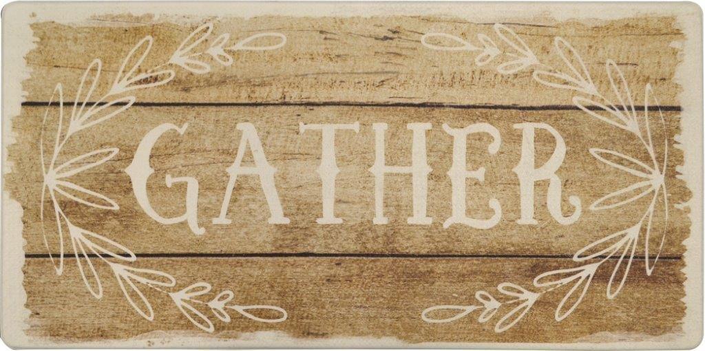 "Oversized 20""x39"" Anti-Fatigue Embossed Floor Mat (GATHER)"