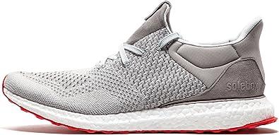 periódico Ciro sostén  Amazon.com | adidas Mens Ultra Boost Uncaged Solebox Grey/White-Red Mesh |  Fashion Sneakers